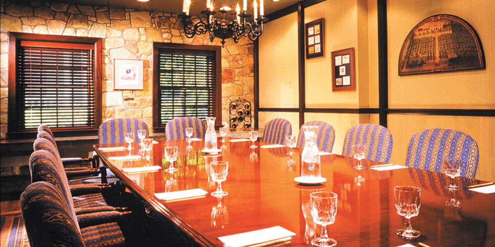 The more formal Jefferson Board Room for functions on Cape Cod